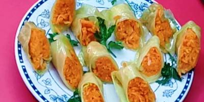 Вкуснее, чем на рынке! Суперзакуска! Обалденные маринованные голубцы с корейской морковкой