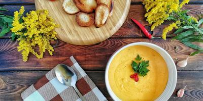 Тыквенный крем-суп, который понравится даже мужчине
