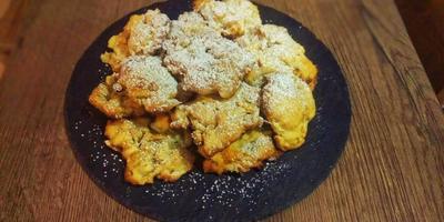 Домашнее печенье с орехами и яблоками - ленивый рецепт для сладкоежек