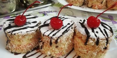 """Бисквитные пирожные с творожным кремом """"Шантильи"""". Справится даже новичок!"""