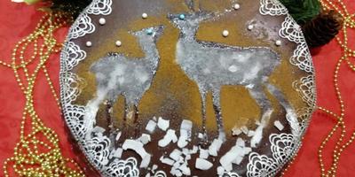 Простой Рождественский торт