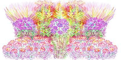 Просто повторите: готовый проект цветника «Осенняя красота»