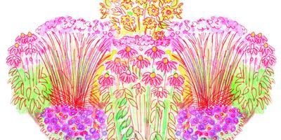 Готовый проект цветника «Зимняя столовая для птиц»