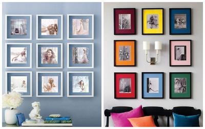 Пример использования цветной подложки под фото