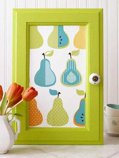 Картина из дверцы от тумбы. Фото с сайта designmag.it