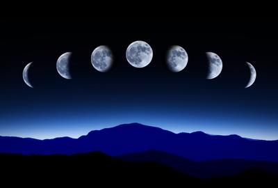 Луна последовательно проходит несколько фаз