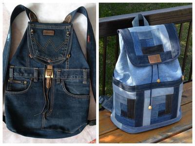 Стильные рюкзаки из джинсы