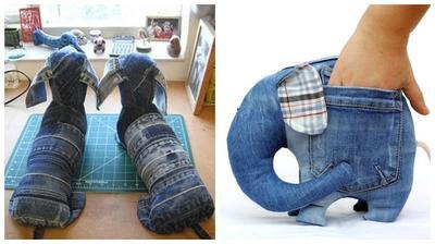 Милые и забавные сувениры из джинсы