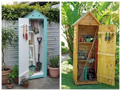 Садовый шкафчик может быть совсем маленьким