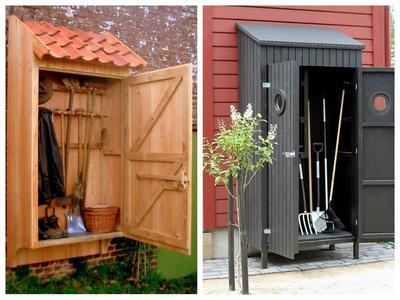 Садовый шкафчик может быть не только удобным, но и стильным