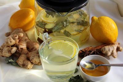 Имбирный чай для хорошего настроения и укрепления иммунитета