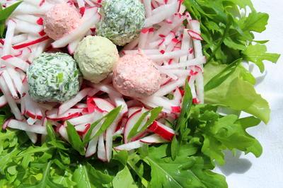 Весенний салат; Гнездо. Рецепт с фото