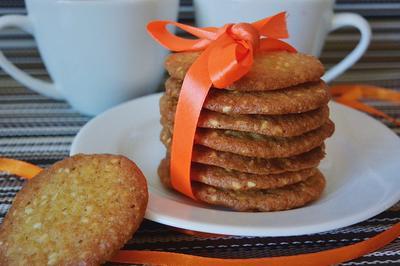 Кунжутное печенье - пошаговый рецепт с фото