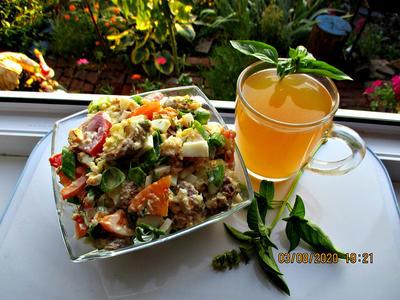 Салат с жареными кабачками и помидорами. Пошаговый рецепт с фото