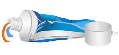 Тюбик от зубной пасты тоже можно приспособить для изготовления навесной бирки