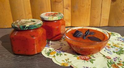 Соус из помидоров и красного базилика - волшебная добавка к мясу, птице, рыбе на новогоднем столе - пошаговый рецепт приготовления с фото