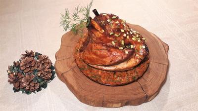 Свиная рулька в соусе барбекю. Предновогодний ужин - пошаговый рецепт приготовления с фото