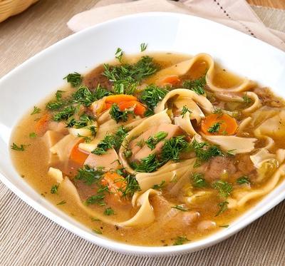 Грибной суп с домашней лапшой: рецепт с фото