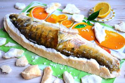 Судак в соляном футляре - пошаговый рецепт приготовления с фото