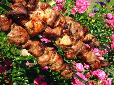 Шашлык из свиной шеи на белом вине. Пошаговый рецепт с фото