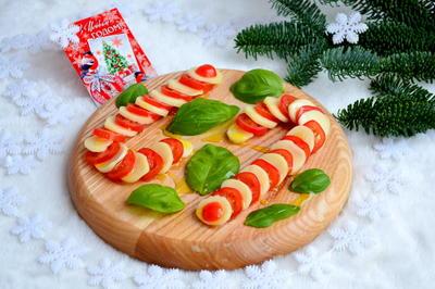 Салат Капрезе с помидорами и моцарелой. Пошаговый рецепт приготовления с фото