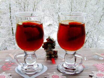 Чайный грог с коньяком, цитрусовыми и специями. Пошаговый рецепт приготовления с фото