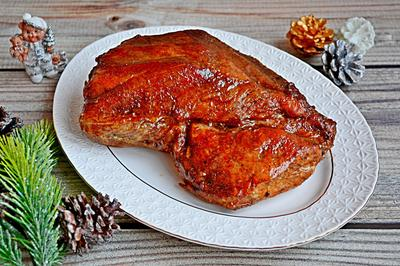 Запеченная свинина в гранатовой глазури. Пошаговый рецепт с фото