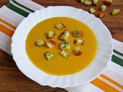 Тыквенный крем-суп с кукурузой. Пошаговый рецепт с фото