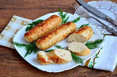 Домашние куриные колбаски. Пошаговый рецепт приготовления с фото