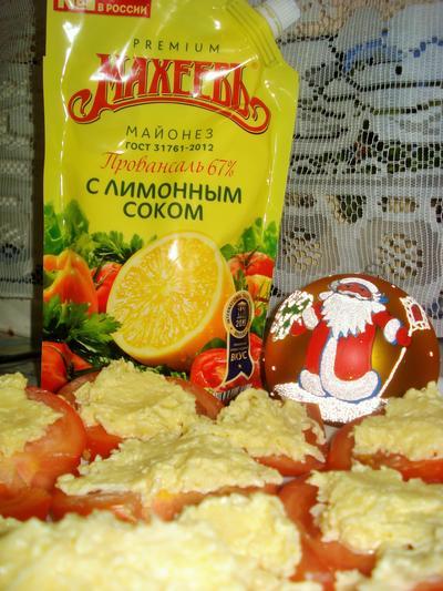 Помидоры с сыром, чесноком и майонезом; МахеевЪ; пошаговый рецепт приготовления с фото