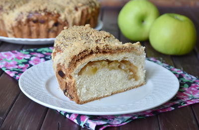 Яблочный пирог с штрейзельной крошкой - пошаговый рецепт приготовления с фото