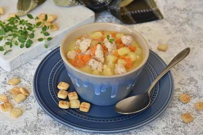 Чизбургер-суп: с куриным фаршем, сыром и овощами. Рецепт приготовления с пошаговыми фотографиями