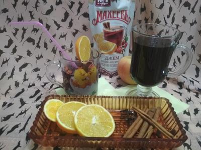 Глинтвейн из клюквенно-апельсинового джема с пряностями. Пошаговый рецепт с фото
