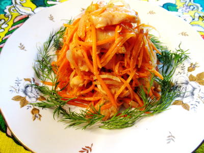 Хе - корейский салат для тех, кто любит поострее - пошаговый рецепт приготовления с фото