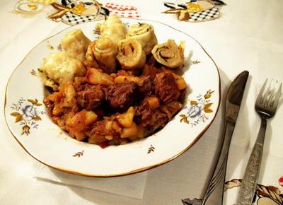 Штрудли с мясом, картошкой и капустой. Вкусно и сытно - пошаговый рецепт приготовления с фото
