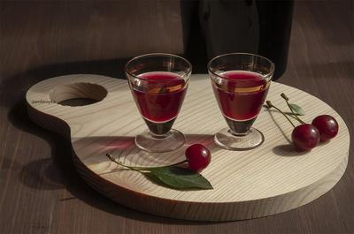 Настойка; Вишнёвая вкусняшка; пошаговый рецепт приготовления с фото