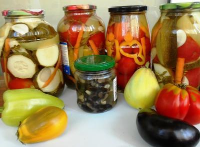 Овощное ассорти маринованное на зиму. Пошаговый рецепт с фото