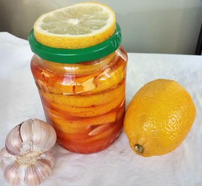 Маринованный лимон с чесноком на зиму
