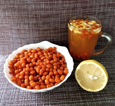 Напитки из облепихи: чай с корицей и компот с лимоном. Рецепты