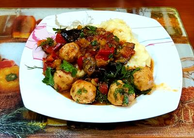Тушёные овощи с фрикадельками - пошаговый рецепт приготовления с фото