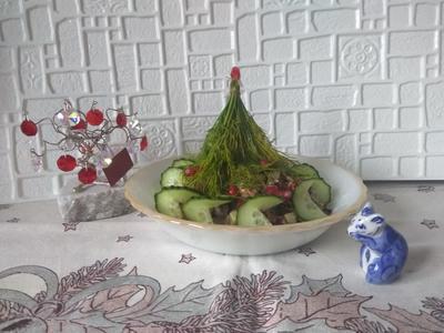 Теплый салат из куриной печени к новогоднему столу. Пошаговый рецепт с фото