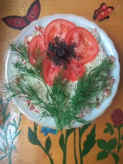 Салат; Овощной с рикоттой. Пошаговый рецепт с фото