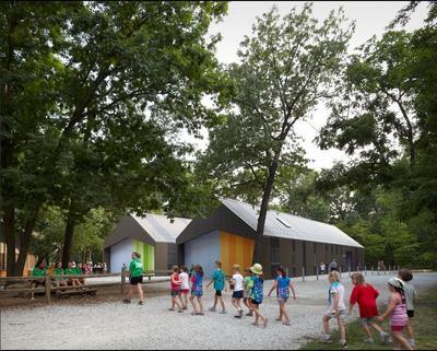 Здания детского лагеря, Миссури, США. Фото с сайта http://architizer.com/