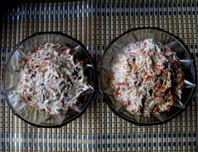Салат с шампиньонами и рисом. Пошаговый рецепт с фото