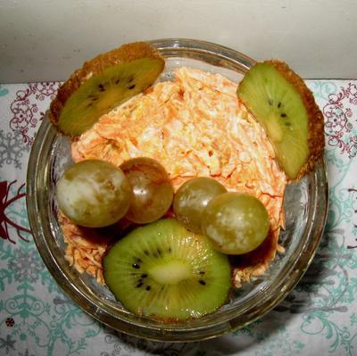 Салат с морковью и курагой; Праздничный. Рецепт с пошаговыми фото