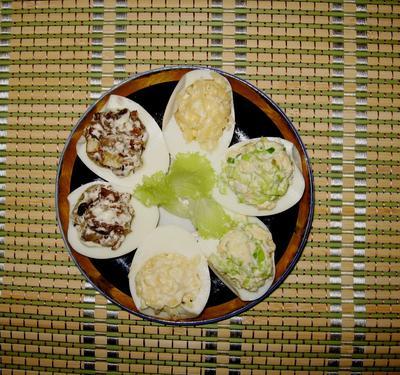 Фаршированные яйца. Три варианта начинки. Пошаговый рецепт с фото