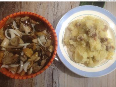 Картошка с зажаркой из бекона и лука - пошаговый рецепт приготовления с фото