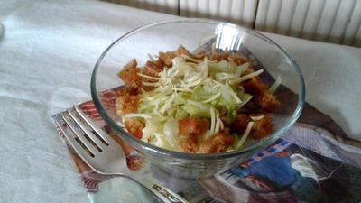 Салат из капусты с курицей и пикантной медово-горчичной заправкой. Пошаговый рецепт приготовления с фото