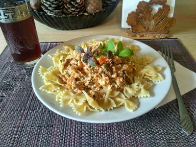 Фарфалле с базиликом - пошаговый рецепт приготовления с фото