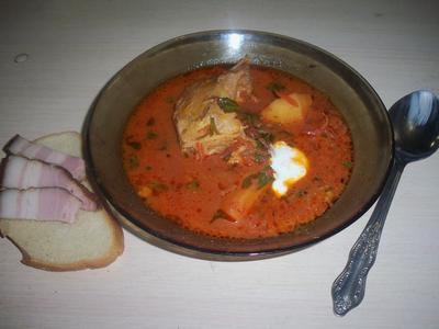 Борщ по-украински с фасолью. Рецепт с пошаговыми фотографиями